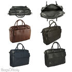 Giglio Italian Soft Leather Laptop Briefcase Business Satchel Bag Made In Italy