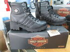 NEW Harley Davidson Womens Leather Boots Shoes Medium Black Tamia