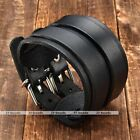 1pc 2 Layer Wide Mens Boy Leather Bracelet Belt Buckle Wristband Cuff Bangle New