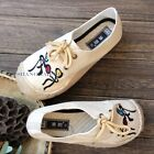 Women Men Tribal Ethnic Casual Shoes Chinese Plimsolls Espadrilles Straw Woven
