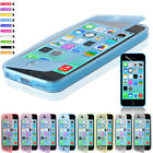 Flip Soft Crystal Silicone Case Cover For Apple iPhone 5C Free Screen Protector