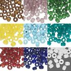 20 Glass 9mm x 7mm Crow Pony Barrel Shaped Loose Beads with Big 3mm - 4mm Hole