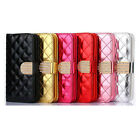 Bling Diamond Card Leather Wallet Flip Case For Samsung Galaxy S6 Edge Tide
