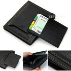 New! Men's Wallet Pockets Money Purse ID Credit Card Clutch Bifold Black PU - LD