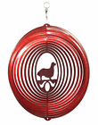SWEN Products LONG HAIR DACHSHUND Dog Circle Swirly Metal Wind Spinner