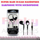 Stereo In Ear Hands Free Headset Head Phones+Mic fits Blackberry Classic Q20
