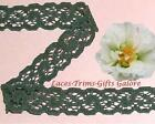 """6 Yards Lace Trim Dk Green Stretch 1/2"""" Scroll O42BV Added Items Ship No Charge"""
