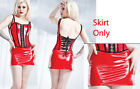 NEW SEXY RED PVC WET LOOK MINI SKIRT Size Small through 1X2X - Coquette