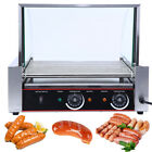 2200w Commercial 30 Hot Dog 11 Roller Cooker Machine w/ Stainless Steel DripTray cheap