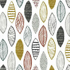ANNALI - LEAVES - WHITE- DASHWOOD STUDIO COTTON FABRIC