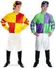 Adult Jockey Horse Racing Costume Outfit Mens Stag New Red/Yellow Green/Purple