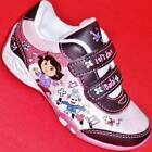 NEW Girls Toddlers Pink/Brown DORA & BOOTS LIGHTS Velcro Athletic Sneakers Shoes