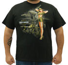 Harley-Davidson Mens Classic Military Pinup Black Short Sleeve T-Shirt