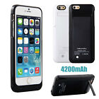 4200mAh Portable Backup Battery Charger Power Bank Case Cover For iPhone 6 4.7""