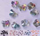New 10/20PCS Glass Crystal Butterfly Beads Loose Spacer Craft Beads DIY 8*5mm