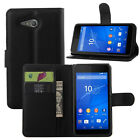 4Colors Leather Folio Wallet Flip Stand Case Pouch For Sony Xperia E4G #i