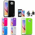 TPU Jelly Rubber Gel Case+Vent Mount Holder+LCD For Samsung Galaxy S6 Edge / S6