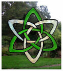 Celtic Knot Stained Glass Effect Window Cling