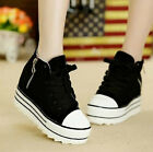 Womens Ladies Fashion Canvas Sneakers  Platform High-top Shoes Creepers XWC159