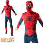 Spiderman Adults Fancy Dress Marvel The Avengers Superhero Mens Costume Outfit