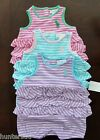 NWT Ralph Lauren Infant Girls Striped Ruffled Big Pony Romper 3m 6m NEW $30 3g