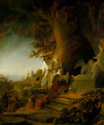 Rembrandt van Rijn Christ and St Mary Magdalen at the Tomb Vintage Print
