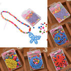 Wooden Beads Necklace Bracelet Kids Bubblegum DIY Creative Educational Craft