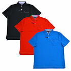 Tommy Hilfiger Polo Shirt Mens Classic Fit Interlock Pocket Contrast Stitching