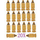 5or 20 High Pressure Brass 4mm Male Threaded Fog Mist Nozzle Fogging Spray Head