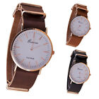 New Ultra-thin Leather Belt Geneva Classic Simple Scale Men Watches Watch