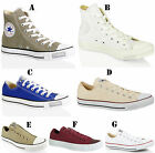UNISEX CONVERSE ALL STAR CT HI LO TOP CANVAS LEATHER TRAINERS SHOES SIZE 10