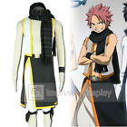 Fairy Tail Natsu Dragneel Black Scarf Cosplay Costume Full Set FREE P&P