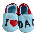 Baby Father's Day Boys I Love DAD Light Blue Shoes