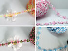 2yd 13mm various Colors Polyester Lace Trim Sewing Crafts Costume Decor