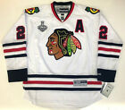 DUNCAN KEITH 2015 CHICAGO BLACKHAWKS STANLEY CUP REEBOK PREMIER WHITE JERSEY