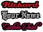 1 Custom Embroidered Name Patch Tag IRON ON Badge FELT Motorcycle club Biker