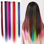 Fashion Women Full Long Synthetic Hair Head Clip In Extensions Straight Real