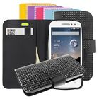 For HTC One SERIES Luxury Diamond FDS77 Leather PU WALLET POUCH Cover Colors