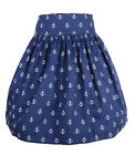 Küstenluder KAILEE Anker 50s Sailor ANCHOR Swing SKIRT / Rock - Blau Rockabilly