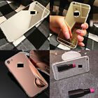 MIRROR REFLECTIVE BACK SOFT COVER FOR IPHONE SE 5S 5 / 6S 6 PLUS / SAMSUNG S6