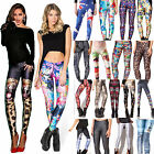 Fashion 3D Printed Womens Skinny Stretchy Trousers Leggings Yoga Casual Pants