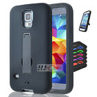 For ZTE Speed SERIES Hybrid Hard Rubber w T Stand Case Cover Colors