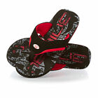 Animal Jekyl Logo  Mens  Flip Flops - Black/red