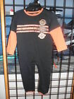 NOS Harley Davidson Boys Baby Center Chest Stripes w/Patches Knit Black Coverall