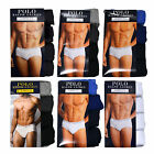 Polo Ralph Lauren Briefs Mens Classic Fit 4 Pack Cotton Underwear Logo Waistband