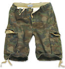 SURPLUS VINTAGE MENS COMBAT CARGO SHORTS WOODLAND CAMO 30w