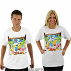 ADULTS UNISEX ALOHA T-SHIRT HAWAIIAN HOLIDAY TOP STAG HEN PARTY HULA FASHION TEE