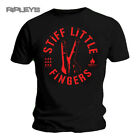 Official T Shirt Stiff Little Fingers ~ DIGITS Red Logo All Sizes