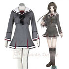 Hiiro no Kakera 3 Tamaki Kasuga Grey School Uniform Cosplay Costume FREE P&P
