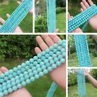 AAA Natural Blue Amazonite 6,8,10,12mm Round Beads 15""